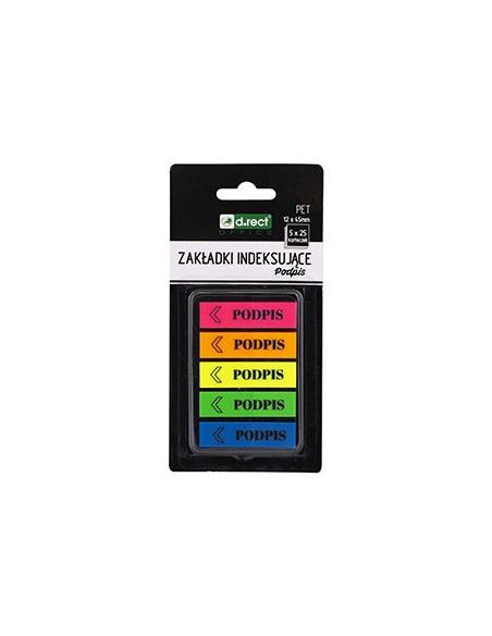 Stick Index Adeziv D.Rect 12X45Mm / 5X25F / Culori Neon
