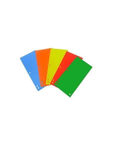Separatoare Biblioraft Carton D.Rect 100 Buc/Set - 5 Culori