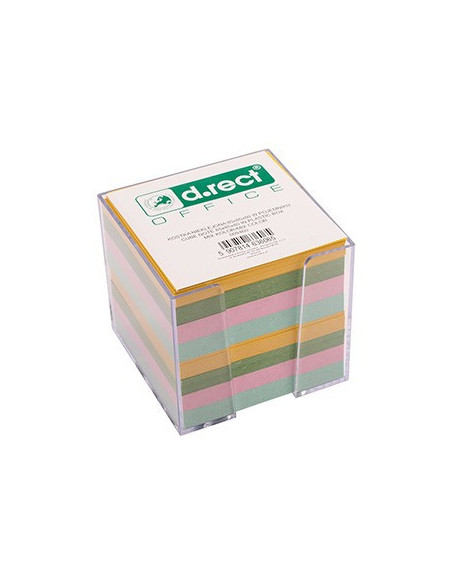 Rezerva Cub Color Cu Suport Plastic D.Rect 800F - Culori Pastel