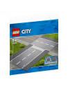 Lego City Intersecție Dreaptă Și În T - 60236
