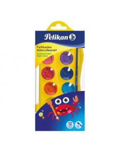 Acuarele Pelikan Junior, 12 Culori + Pensula