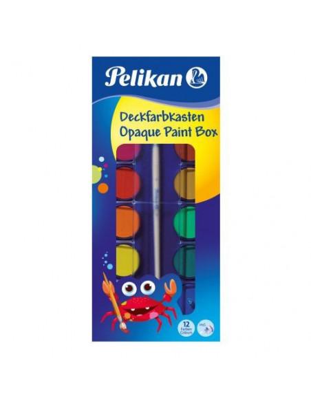 Acuarele Pelikan, 12 Culori + Alb De Zinc + Pensula