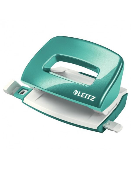 Perforator 10 Coli Model Mini 5060 Leitz Turquoise Metalizat