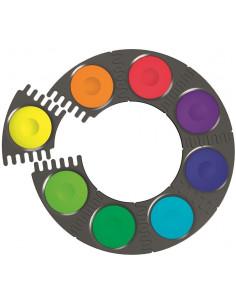 Acuarele Connector Faber-Castell, 12 culori / cutie plastic