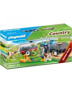Playmobil: Tractor cu rezervor de apă 70367