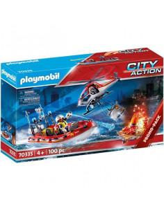 Playmobil: Pompieri cu elicopter și navă 70335