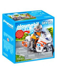 Motocicletă de urgență cu lumină intermitentă - 70051