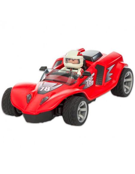 Maşina de curse cu telecomandă, roşie - 9090