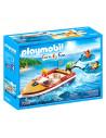 Playmobil: Barcă cu motor cu anvelope amuzante - 70091