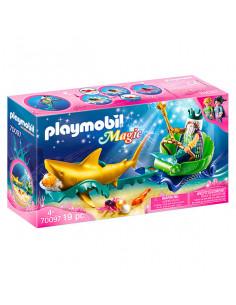 Playmobil Magic: Regele mării cu caleaşcă trasă de rechin - 70097