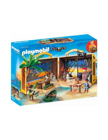 Playmobil Pirates - Set portabil Insula piraţilor 70150