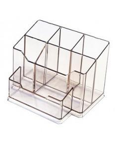 Suport Instrumente De Scris D.Rect Office 5 Compartimente - Transparent