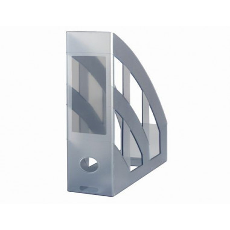 Suport Dosare Plastic A4 Clasic Gri Translucid