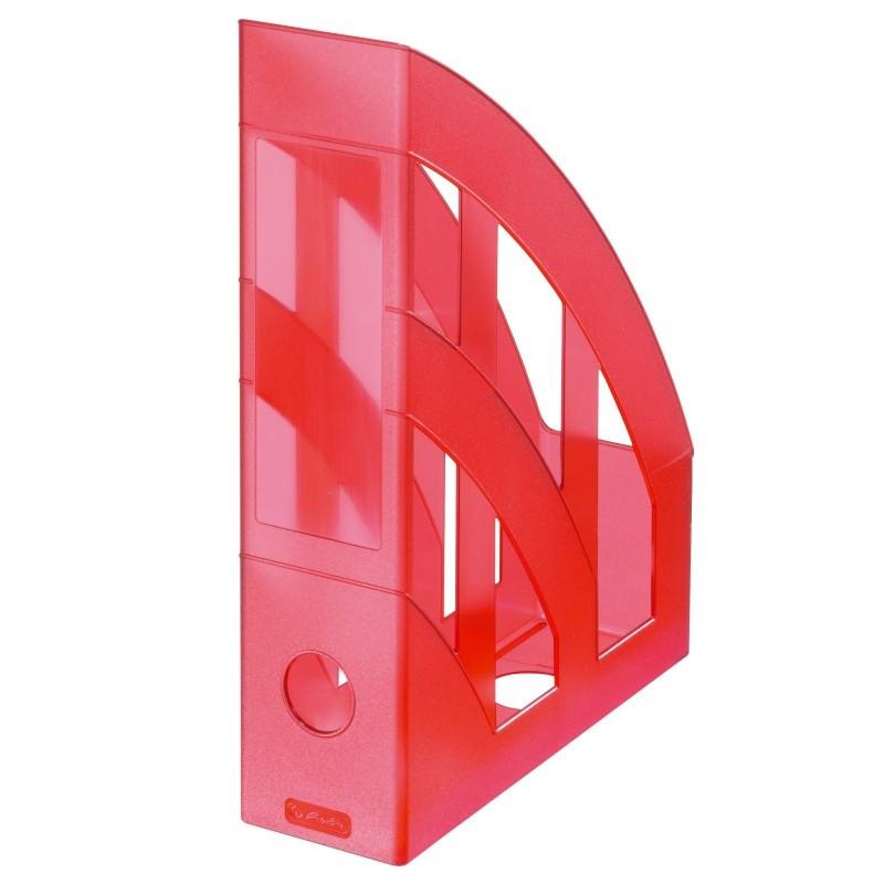 Suport Dosare Plastic A4 Rosu Translucid