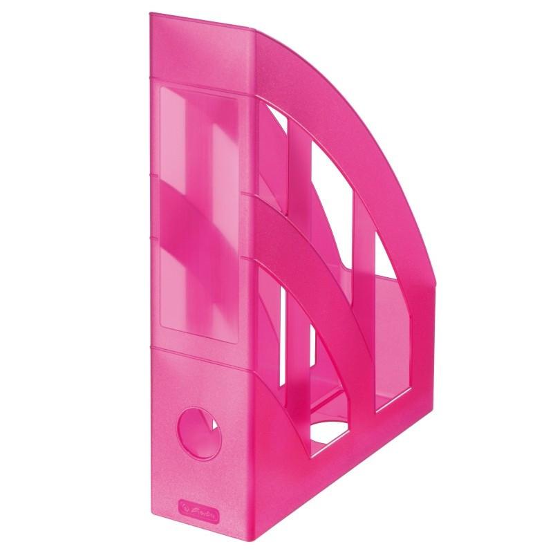 Suport Dosare Plastic A4 Roz Translucid