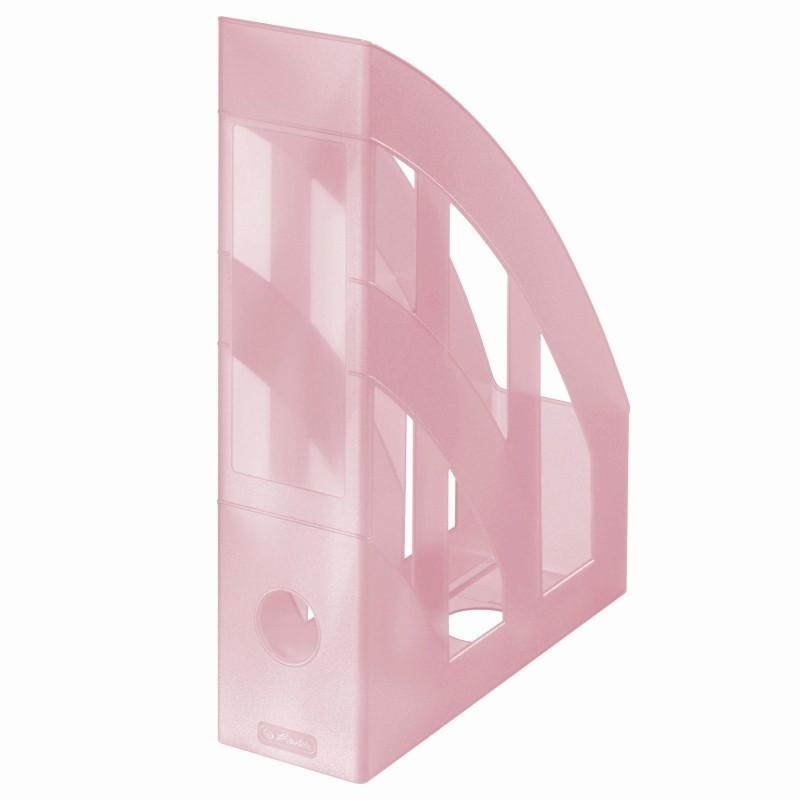 Suport Dosare Plastic A4 Roz Transparent
