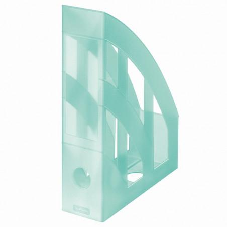 Suport Dosare Plastic A4 Turcoaz Transparent