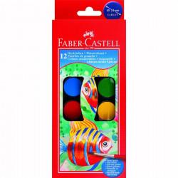Acuarele Faber-Castell, 12 Culori Si o Pensula