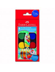 Acuarele Faber-Castell, 8 Culori + pensula
