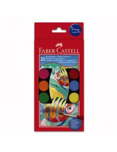 Acuarele Faber-Castell, 21 Culori + pensula