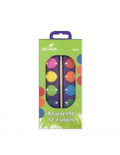 Acuarele Ecada, 12 Culori
