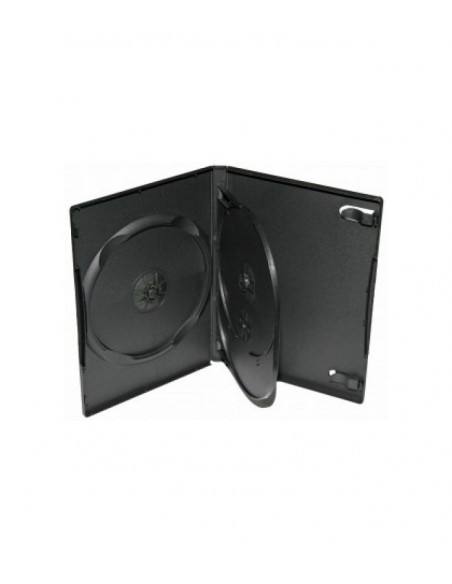 Carcasa 3 DVD neagra