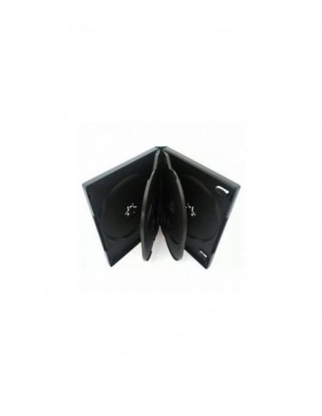 Carcasa 6 DVD 22 mm Black 2 tavite