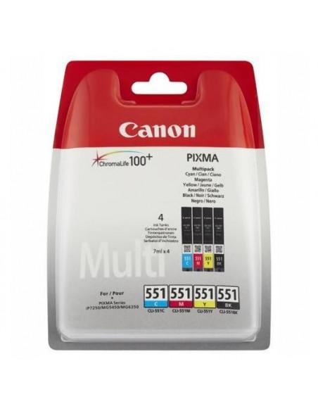 Set cartuse cerneala Canon B+C+M+Y cap. mare CLI-551XL + hartie