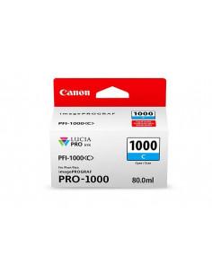 Cartus cerneala original Canon PFI1000C, BS0547C001AA, Cyan
