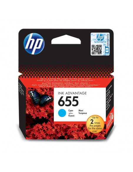Cartus cerneala original HP 655 CZ110AE, Cyan