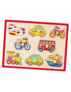 Puzzle cu manere - mijloace de transport