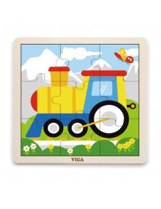 Puzzle din 9 piese mari - tren