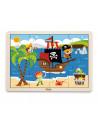 Puzzle din lemn din 16 piese - pirati
