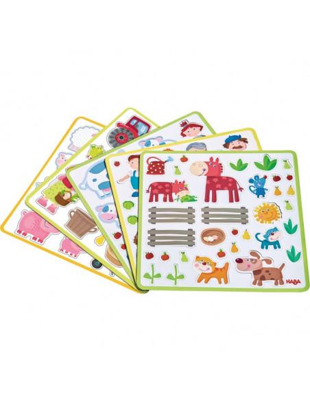 Cutie cu joc magnetic - Ferma lui Peter si Pauline, Haba