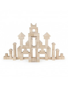 Set cuburi de construit 100 buc natur 3cm , Viga