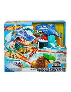 Set de joaca Hot Wheels, City Shark Beach Battle