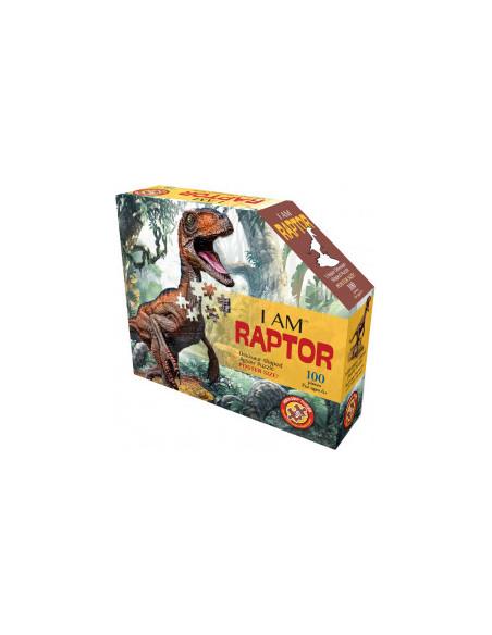 Puzzle Junior I Am Raptor, 100 piese