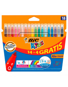 Carioci BIC ultralavabile Kid Couleur, 18 buc/set