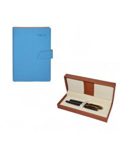 Set Nebo 1 - Agenda B5 Albastra deschis cu magnet, 100 File cu