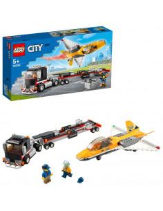 LEGO City Great Vehicles: Transportor de avion cu reactie