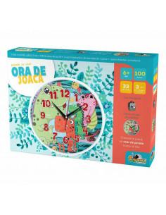 Puzzle cu ceas Noriel, Ora de joaca - Dinozauri, 100 piese