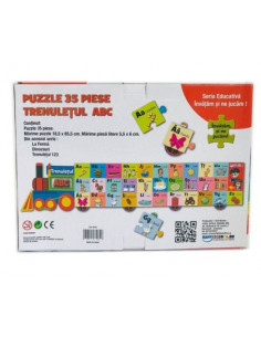 Puzzle educativ HappySchool - Trenuletul ABC
