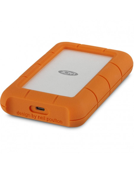 HDD extern Lacie 1TB Rugged 2.5 USB3.0 argintiu si portocaliu