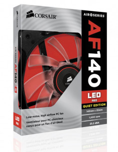 Cooler carcasa Corsair AF140 LED Red Quiet Edition High Airflow