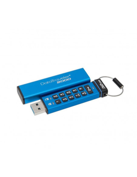 USB Flash Drive Kingston 8GB DT2000 USB 3.0 Keypad 256bit AES