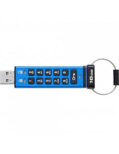 USB Flash Drive Kingston 16GB DT2000 USB 3.0 Keypad 256bit AES