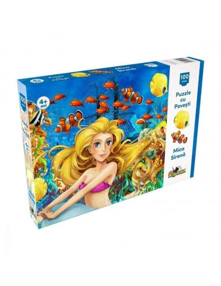 Puzzle Noriel cu povesti - Mica sirena, 100 piese