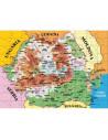Puzzle Noriel cu harti - Harta Romaniei, 100 piese