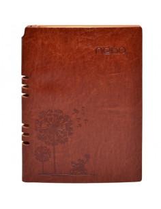 Agendă A5 Nebo 16153 Nedatată,Coperta piele ECO, 100 File, Maro