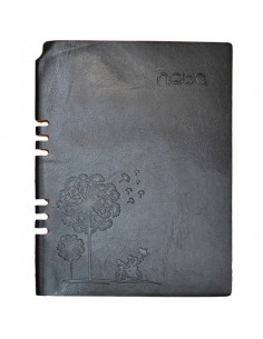Agendă A5 Nebo 16153 Nedatată,Coperta piele ECO, 100 File, Negru